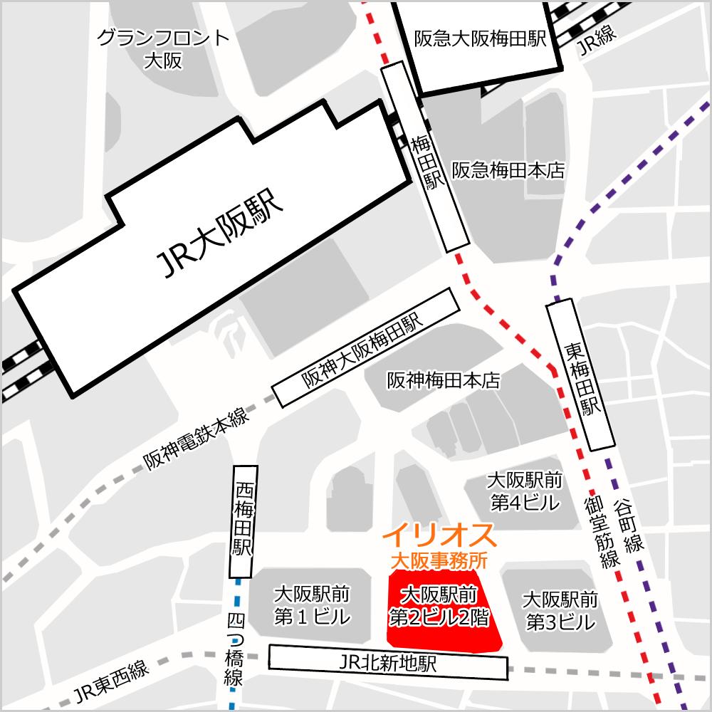 大阪事務所地図